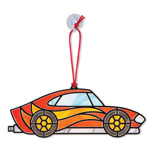 Melissa Doug Stained Glass Made Easy - Race Cars Ornaments 9293