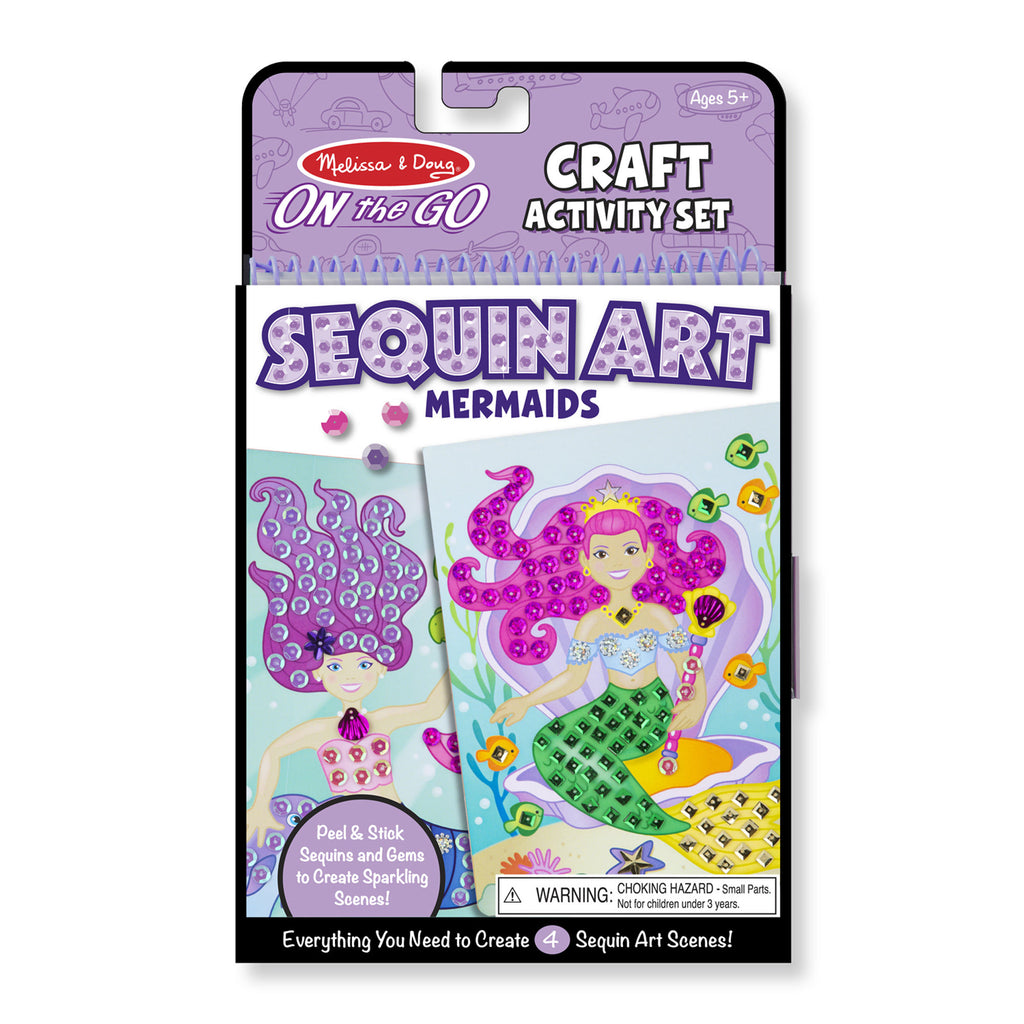 Melissa Doug On-the-Go Crafts - Sequin Art - Mermaids 9437