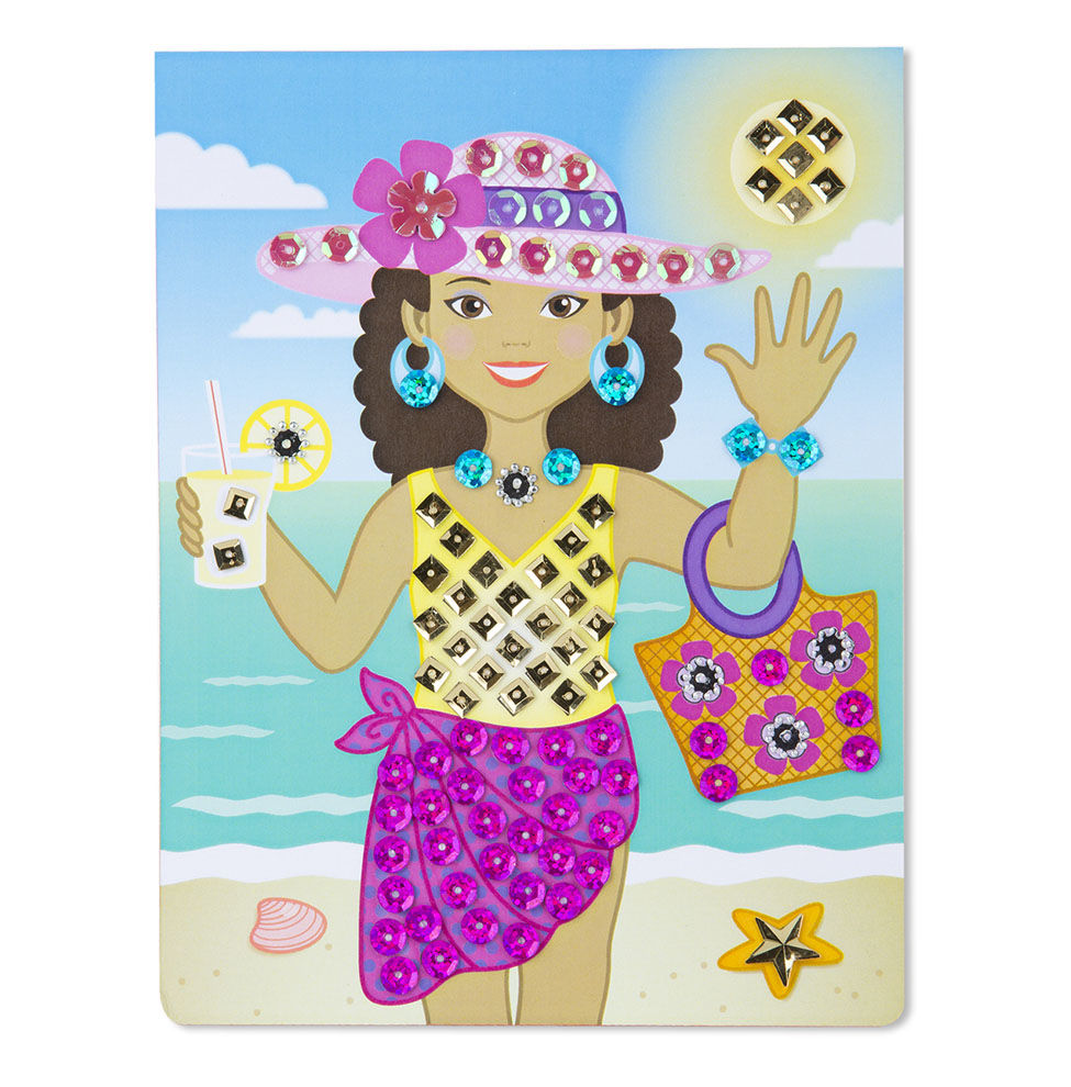 Melissa Doug On-the-Go Crafts - Sequin Art - Fashion 9443