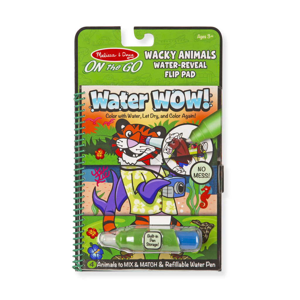 Melissa Doug Water Wow! Wacky Animals Water Reveal Flip Pad 9464