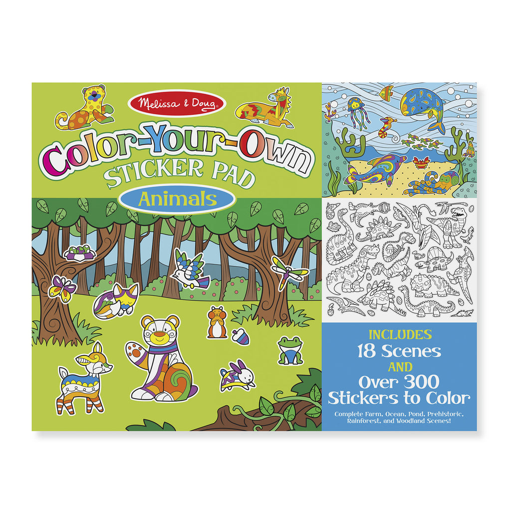 Melissa Doug Color Your Own Sticker Pad - Animals 9468