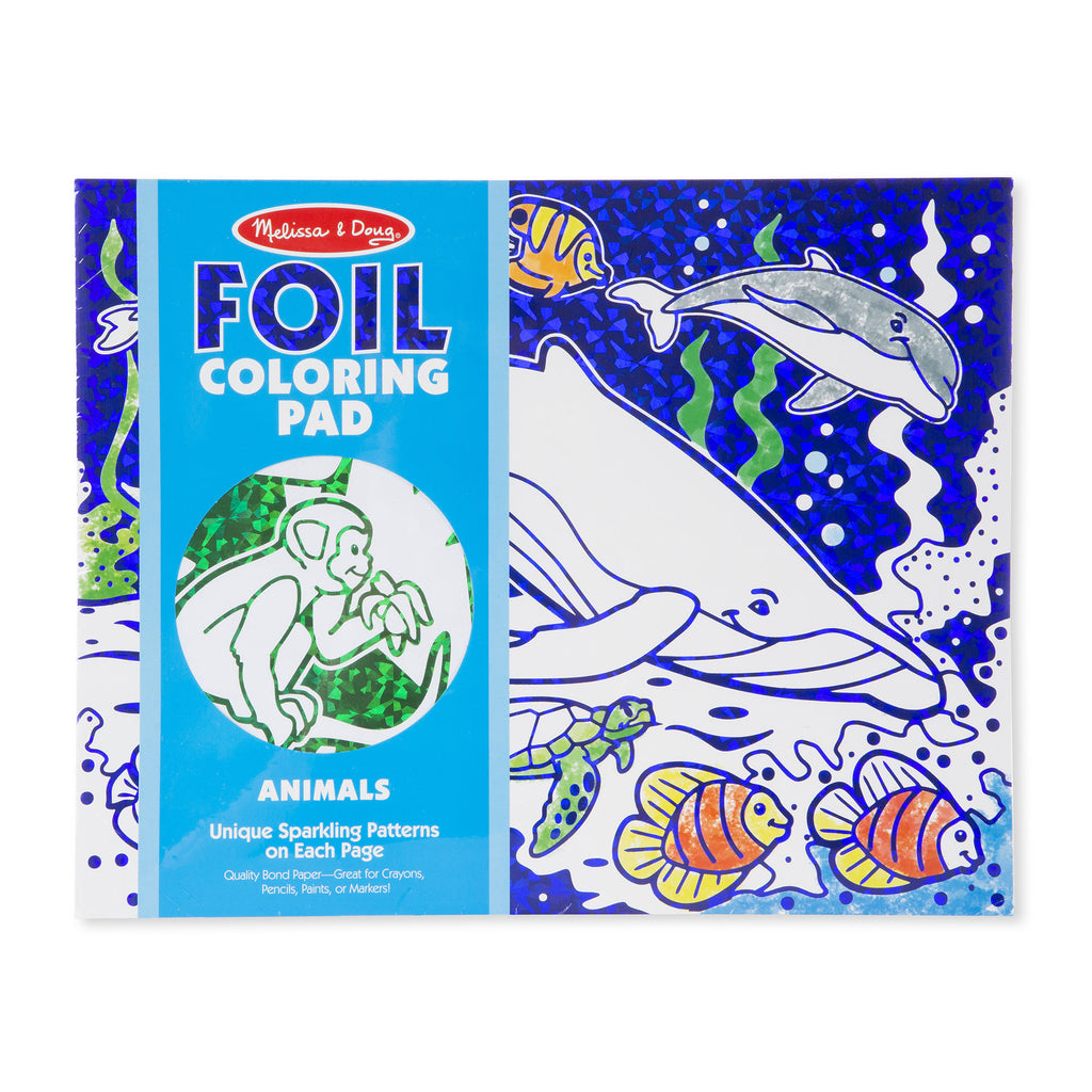 Melissa Doug Foil Coloring Pad - Animals 30302
