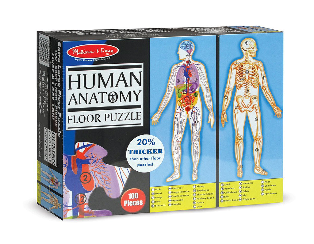 Melissa Doug Human Anatomy Floor Puzzle (100 pc) 445