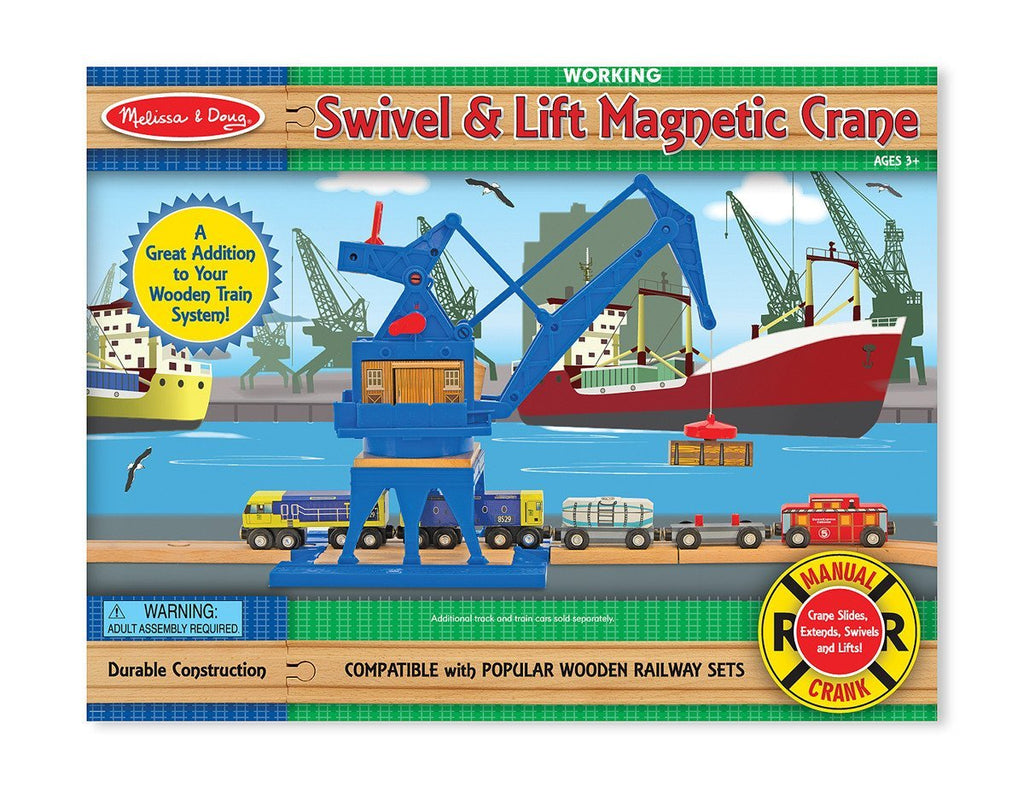 Melissa Doug Swivel & Lift Magnetic Crane 622