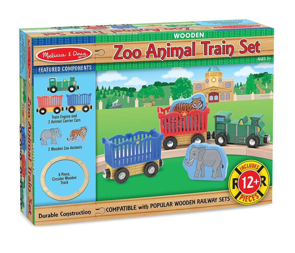 Melissa Doug Zoo Animal Train Set 643