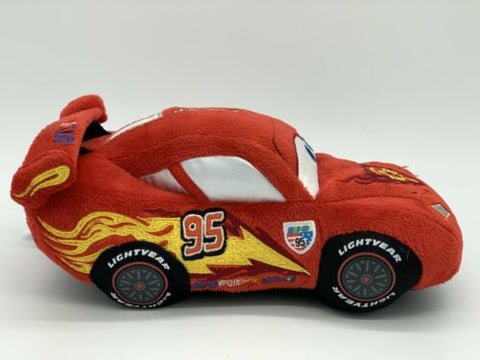 "Image of Disney Store Pixar Cars Lightning Mcqueen 8"" Plush Stuffed Toy"