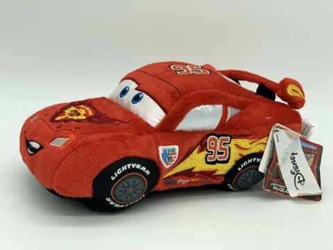 "Disney Store Pixar Cars Lightning Mcqueen 8"" Plush Stuffed Toy"
