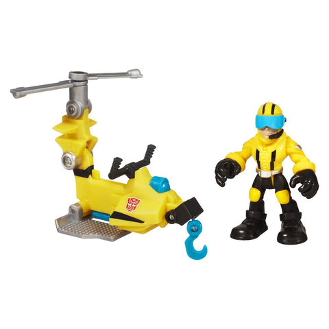 Image of Transformers Rescue Bots Playskool Heroes Axel Frazier and Microcopter Set