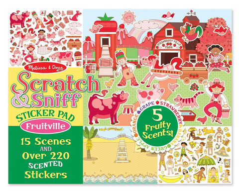 Image of Melissa Doug Scratch & Sniff Sticker Pad Scented Stickers