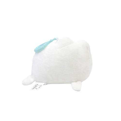 GUND Pusheen Pusheenimal Seal Plush Stuffed Animal Backpack Clip, White, 5""