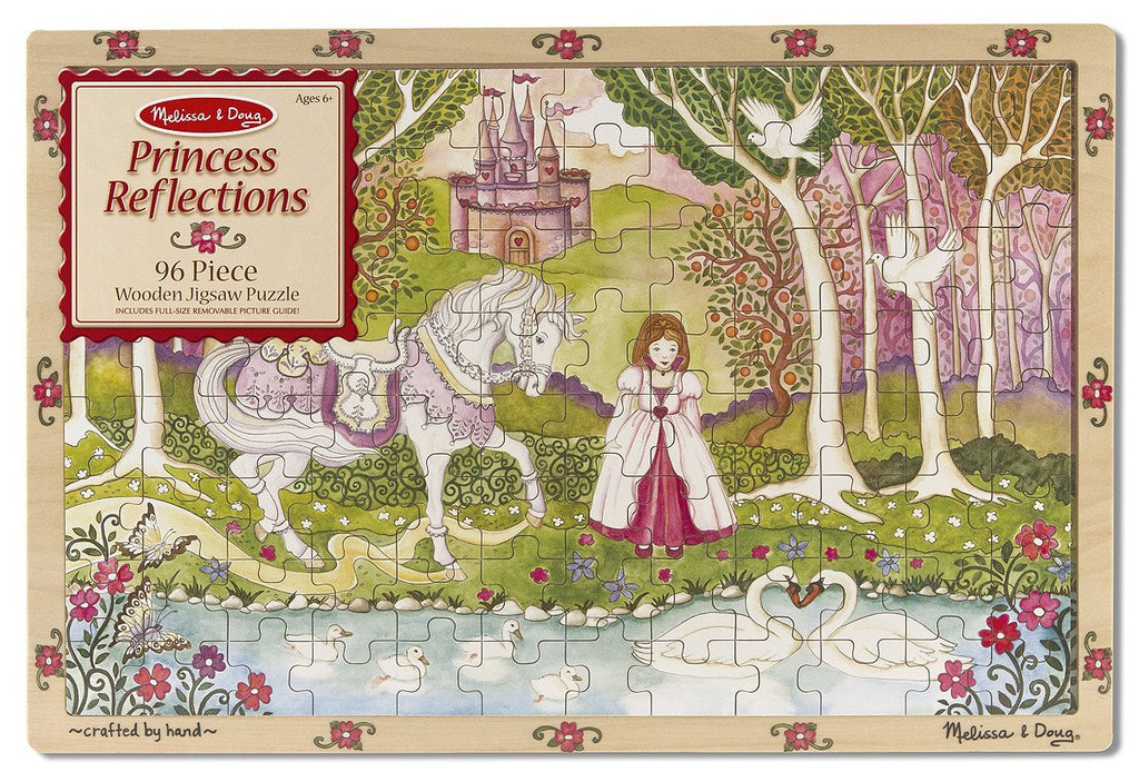 Melissa Doug Princess Reflections Wooden Jigsaw Puzzle (96 pc)