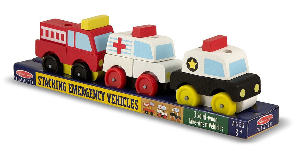 Melissa Doug Stacking Emergency Vehicles 3075