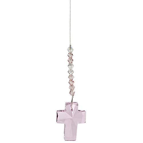 Woodstock Chimes DDCRO Rainbow Makers Crystal Suncatcher, Cross - Rose