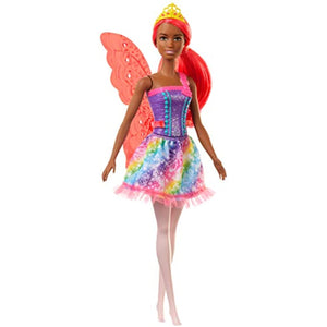 Barbie Dreamtopia Fairy Doll, 12-inch, with Pink Hair, Light Pink Legs & Wings, Gift for 3 to 7 Year Olds, Multi