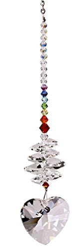 Woodstock Chimes CBH Rainbow Makers Suncatcher, Crystal Brilliance Cascade - Heart