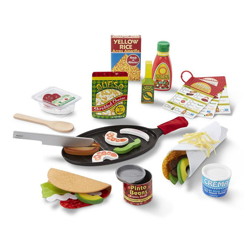Image of Toddler Melissa & Doug Fill & Fold Taco & Tortilla Set