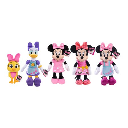Assorted Minnie Mouse Minnie Bowtique Beanz Plush Toys