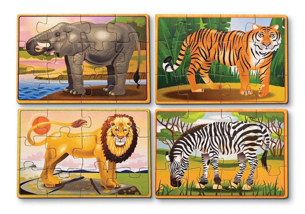 Melissa Doug Wild Animals Puzzle in a Box
