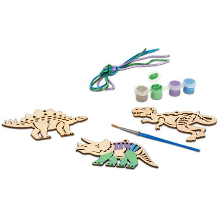 Melissa & Doug Decorate-Your-Own Wooden Scroll Designs Dinosaurs Craft Kit