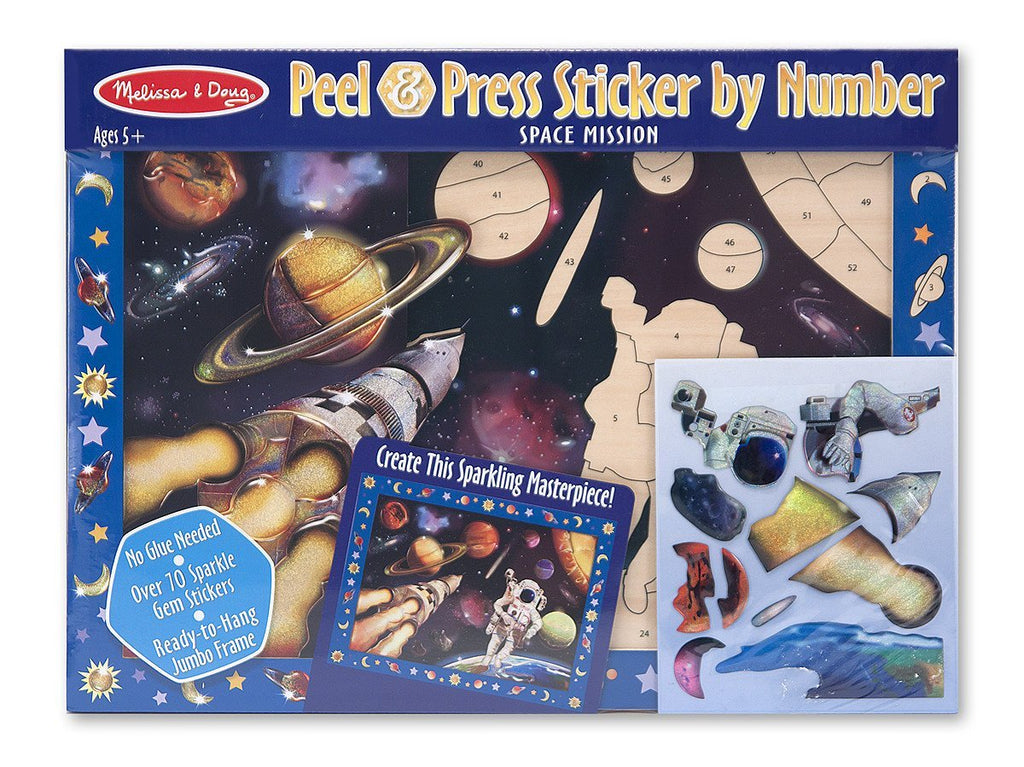 Melissa Doug Peel & Press Sticker by Number - Space Mission