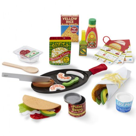 Toddler Melissa & Doug Fill & Fold Taco & Tortilla Set