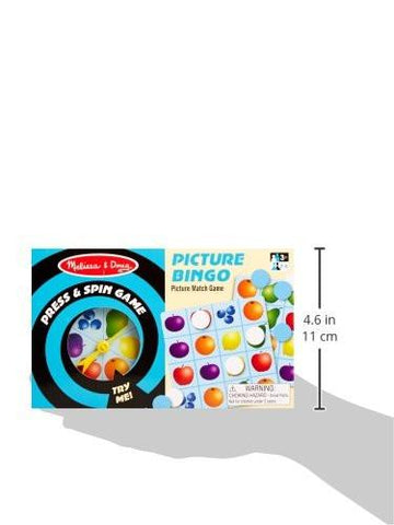 Image of Melissa Doug Press & Spin Game: Picture Bingo