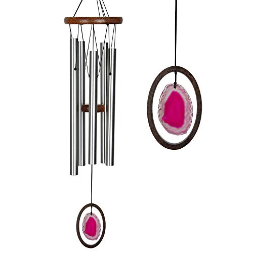 Woodstock Chimes WAGRL The Original Guaranteed Musically Tuned Large Agate Wind Chime, Red