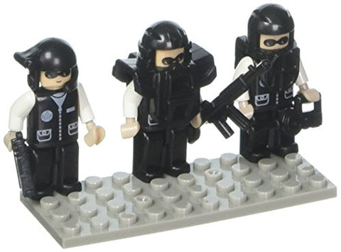 BRICTEK Building Blocks 19307 Mini Figurines Police Swat Team (3)