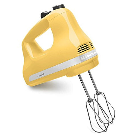 KitchenAid KHM512MY 5-Speed Ultra Power Hand Mixer, Majestic Yellow