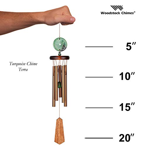 Woodstock Turquoise Wind Chime, Terra