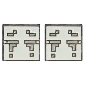 JINX Minecraft Video Game Ghast Enamel Stud Earrings
