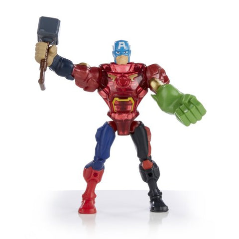 Image of Marvel Super Hero Mashers Captain America Figure 6 inches