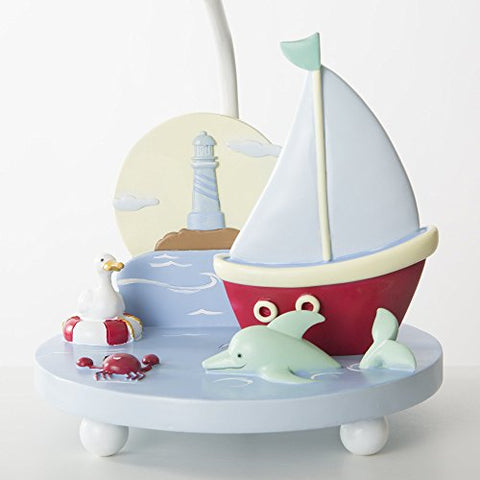 Image of Guidecraft Hand-painted & Hand Crafted Sailing Kids Table Lamp G88207