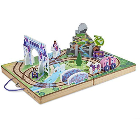 Image of Melissa & Doug Wooden Take-Along Tabletop Kingdom