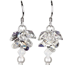 Woodstock Jewels Garden Reflections Swarovski Elements Gardenia Earrings
