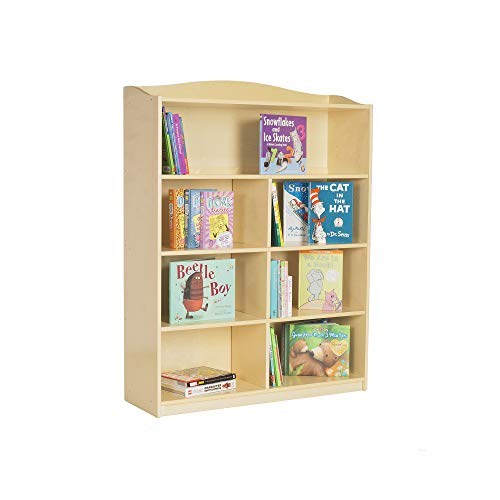 Guidecraft 5-Shelf Bookshelf: Storage Book Rack for Kids' Playroom, School Supply Furniture for Classrooms and Home