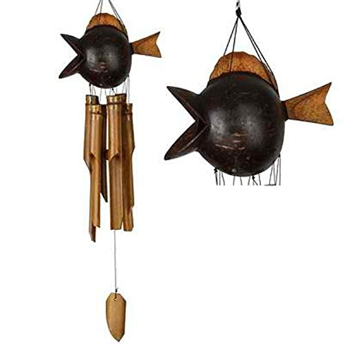 Woodstock Chimes Coco Fish Bamboo Wind Chime