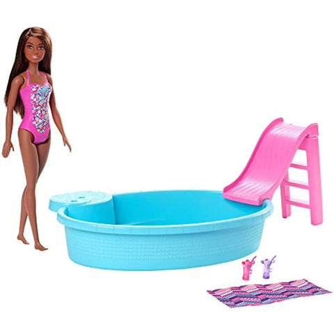 Barbie Doll and Playset - Pool - One Doll Included