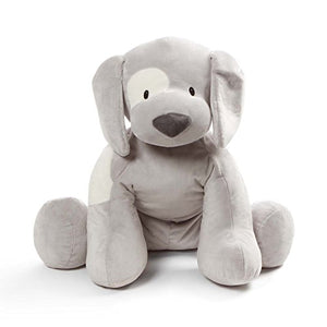 Baby GUND Spunky Puppy Dog Jumbo Over 2 Feet Tall Stuffed Animal Plush, Gray