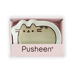 Enesco Pusheen by Our Name is Mud Classic Stoneware Dish, Multicolor, 4 Inches Trinket Tray