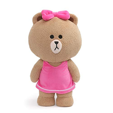 GUND LINE Friends Choco Standing Plush Stuffed Animal Bear, Brown, 14""