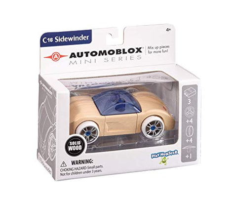Automoblox Collectible Wood Toy Cars and TrucksMini C16 Sidewinder (Compatible with other Mini and Micro Series Vehicles)