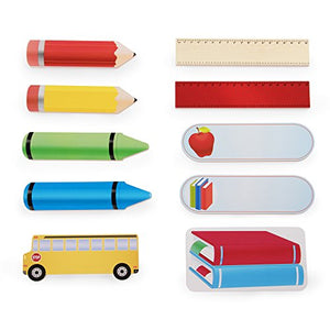 Guidecraft Classroom Wall Art Red Pencil - Kids School Decorative Wooden Colourful Wall Plaque