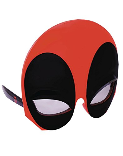 Costume Sunglasses Marvel Large Soft Touch Deadpool Sun-Staches Party Favors UV400