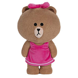 GUND LINE Friends Choco Standing Plush Stuffed Animal Bear, Brown, 14