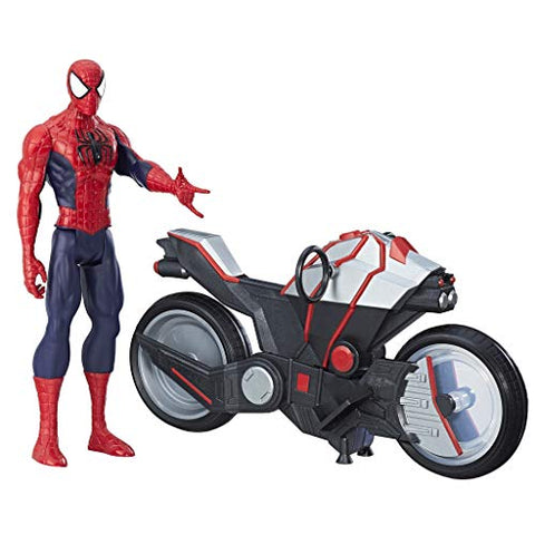 Image of Marvel Spider-Man Titan Hero Series Spider-Man Figure with Spider Cycle