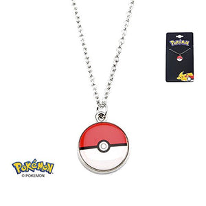 Pokemon Stainless Steel Pendant with Chain (Pokeball)