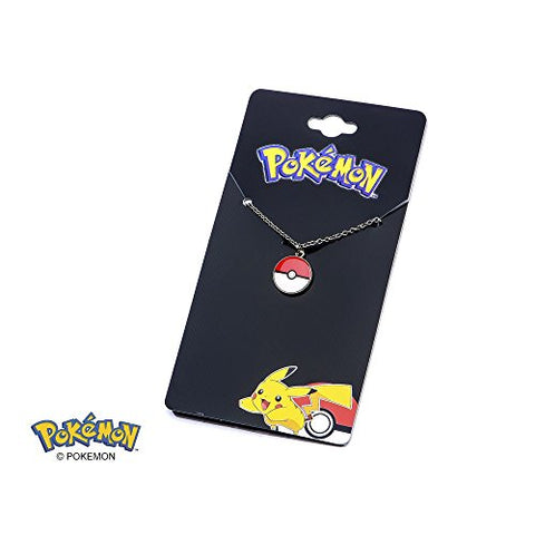 Image of Pokemon Stainless Steel Pendant with Chain (Pokeball)