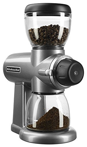 KitchenAid KCG0702CS Burr Coffee Grinder, Contour Silver