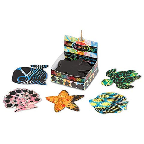 Melissa & Doug Scratch Art Ocean Mini Notes
